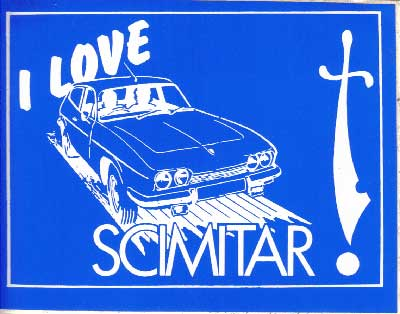 S009 - I Love My Scimitar Sticker