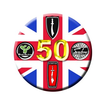 S017 - 50th Anniversary Sticker